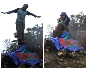 Berhasil mencapai puncak Gandang Dewata setelah berjalan selama 3 hari