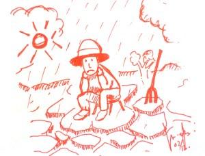 Banjir dan kekeringan terjadi di satu tempat dan waktu yang sama