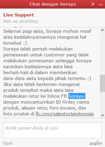 cara marketing sale stock soraya