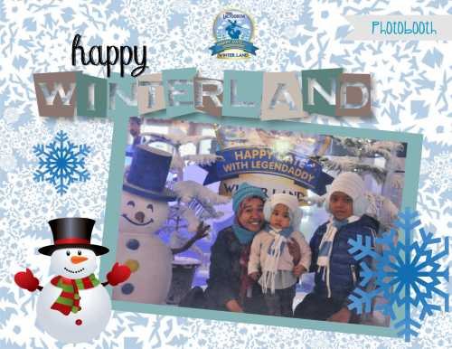 photo booth happy winterland